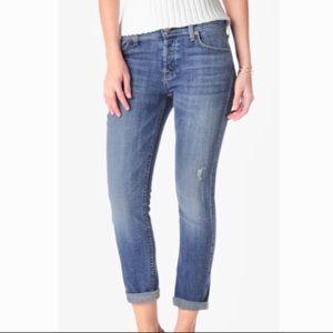 7FAM Josefina Skinny Boyfriend Jeans Twill